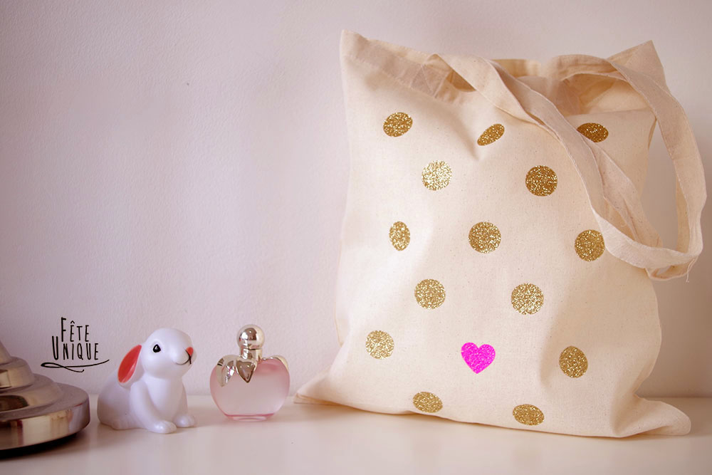 {DIY} Mon Tote Bag Girly à Paillette !