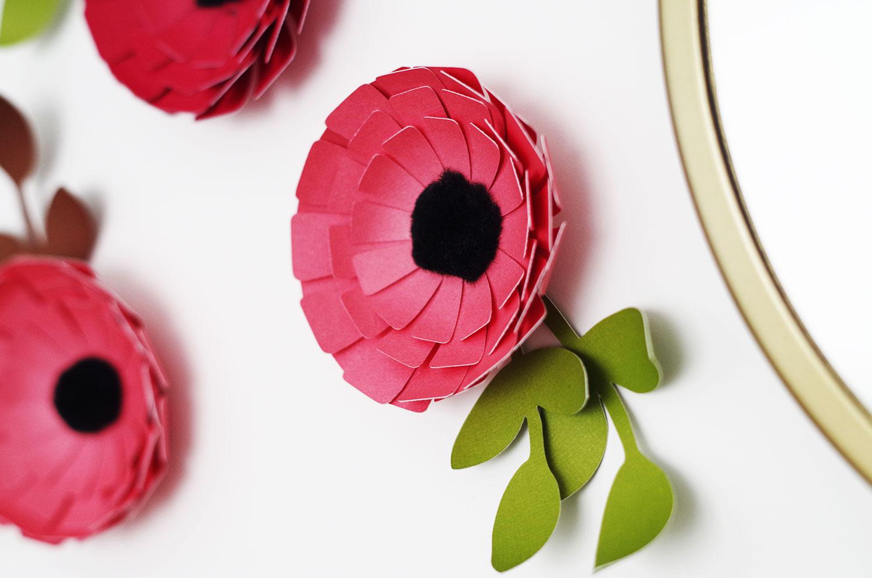 {DIY} Des fleurs en papier pour décorer mes murs