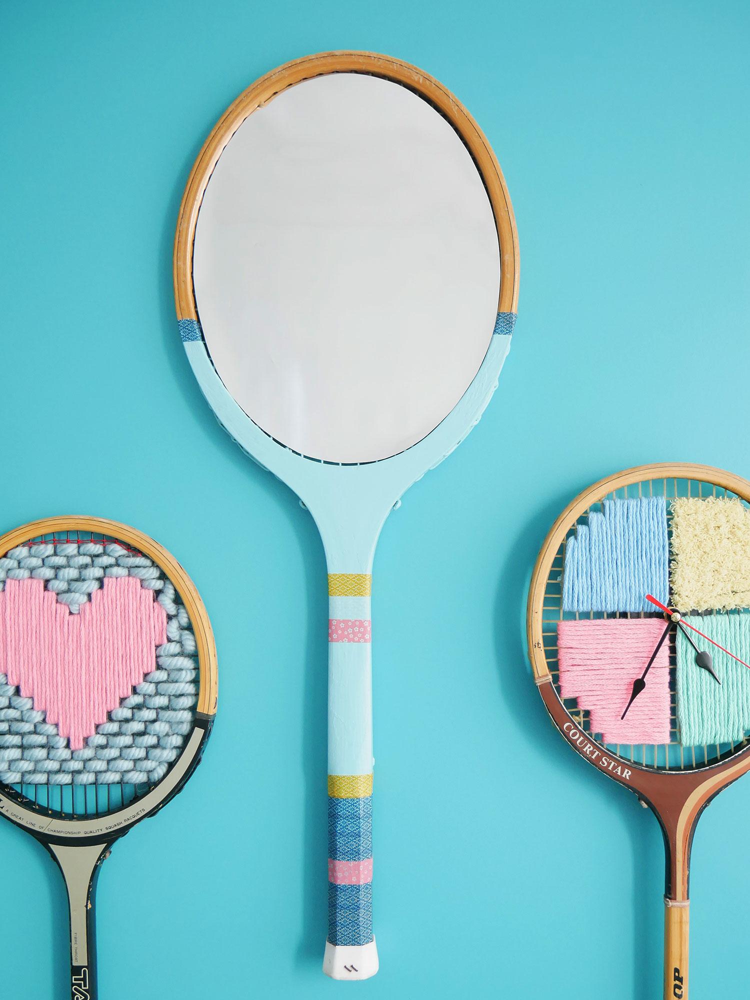 DIY | Une raquette vintage transformée en miroir